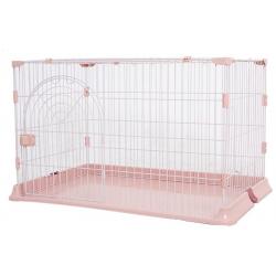 豪華單門兔籠(粉紅)(84x60x54cm)