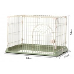豪華單門兔籠(綠色)(84x60x54cm)